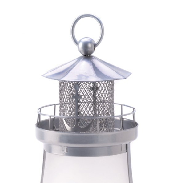 The Anchor Lighthouse Frosted Glass Candle Lantern