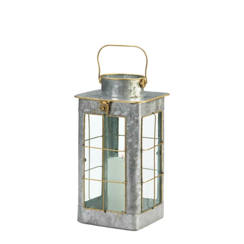 The Farmhouse Galvanized Iron Candle Lantern, Small & Large