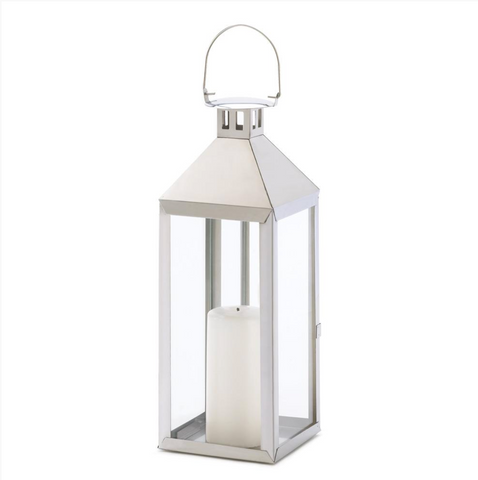 The Nolita Polished Silver Candle Lantern