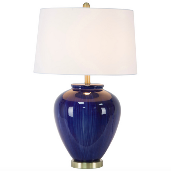 Cobalt Ceramic Table Lamp