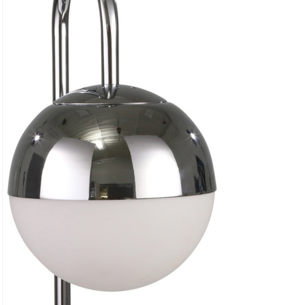 Silver Orb Table Lamp Marble Base
