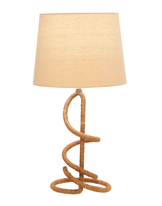 Twist Metal Rope Table Lamp