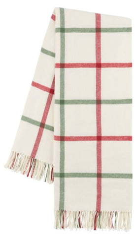 Holiday Tattersall Plaid Itallian Throw Blanket