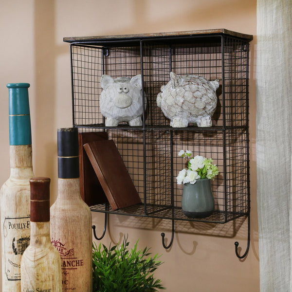 Farmhouse 4-Bin Storage Shelf