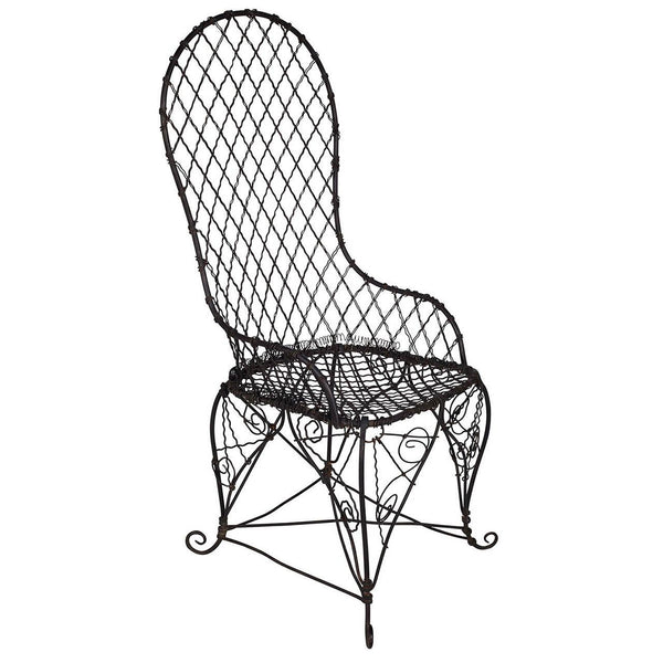 Antique Black Wire Chair