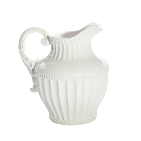 Charleston Fluted Ceramic Pitcher