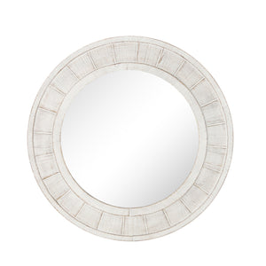 Shiplap Coastal Whitewashed Wall Mirror