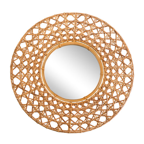 Woven Wicker Wall Mirror
