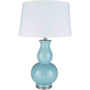 Derby Glazed Ceramic Table Lamp, Aqua