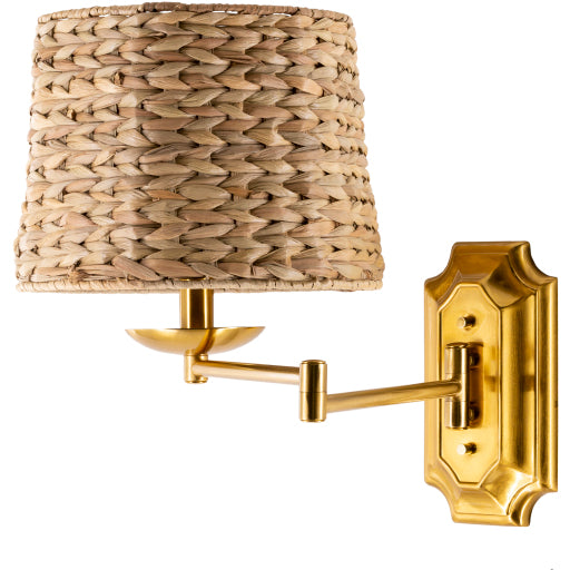 The Daphne Rattan Wall Sconce