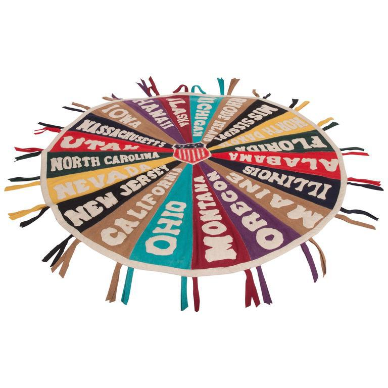 Folk Art Felt Pennant Medallion