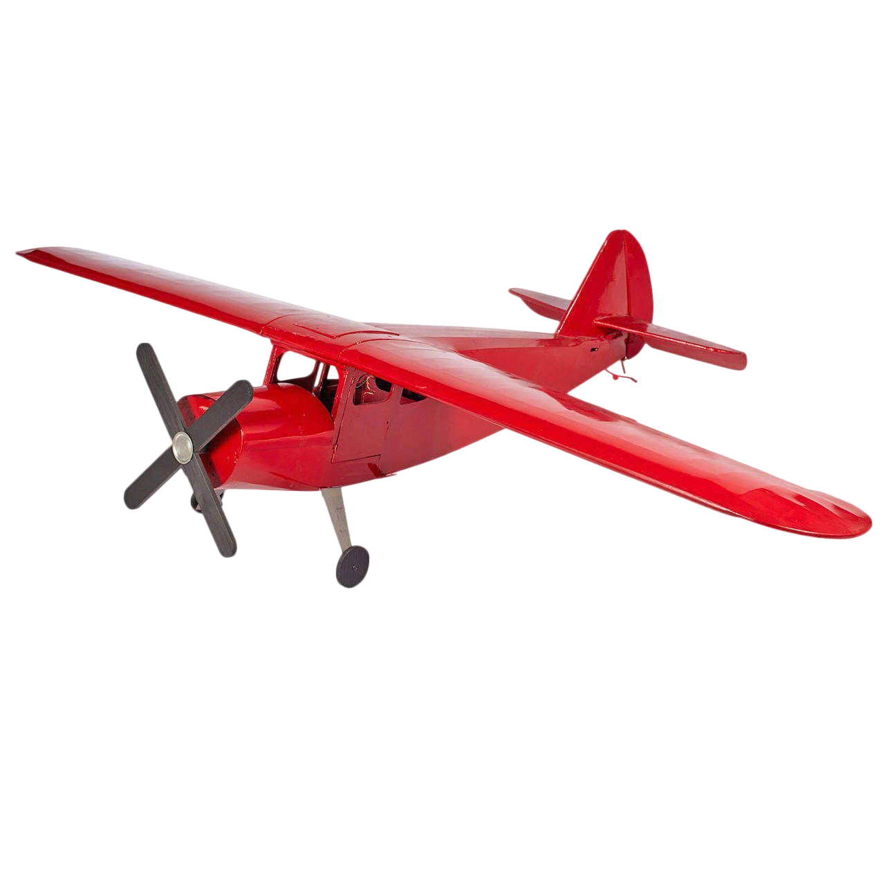 Large-Scale Red Airplane Model