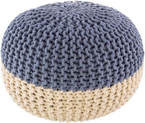 Boden Sphere Knitted Texture Pouf