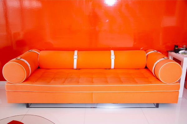 Modern Bolster Arm Sofa Custom Designed by Anthony Baratta