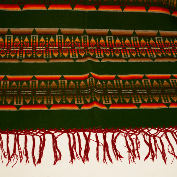 Large Vintage Green Pendleton Blanket