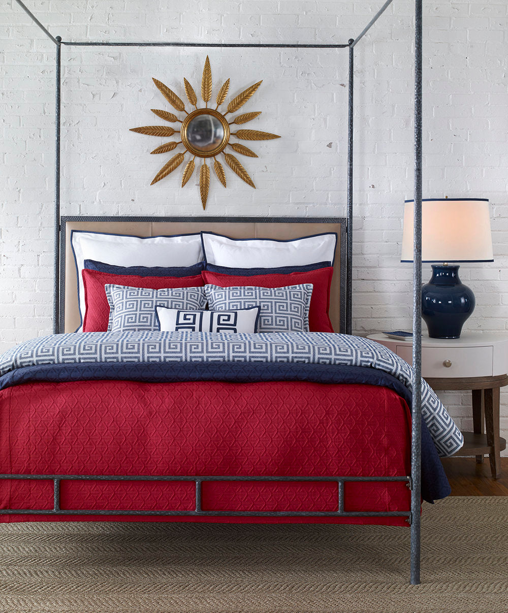 Anthony Baratta Signature Pacifica Nautical Bedding Set Red and Blue