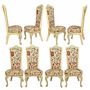 Set of Eight, 20th Century Hollywood Regency Chairs