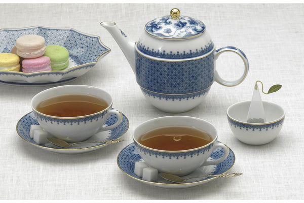 Blue Lace Tea for Two Boxed Set