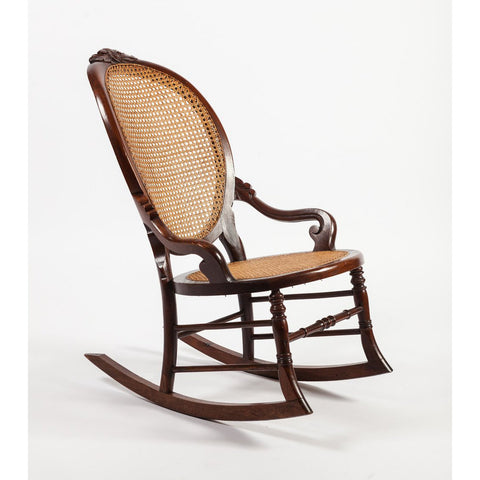 Victorian Walnut Lady's Rocking Chair