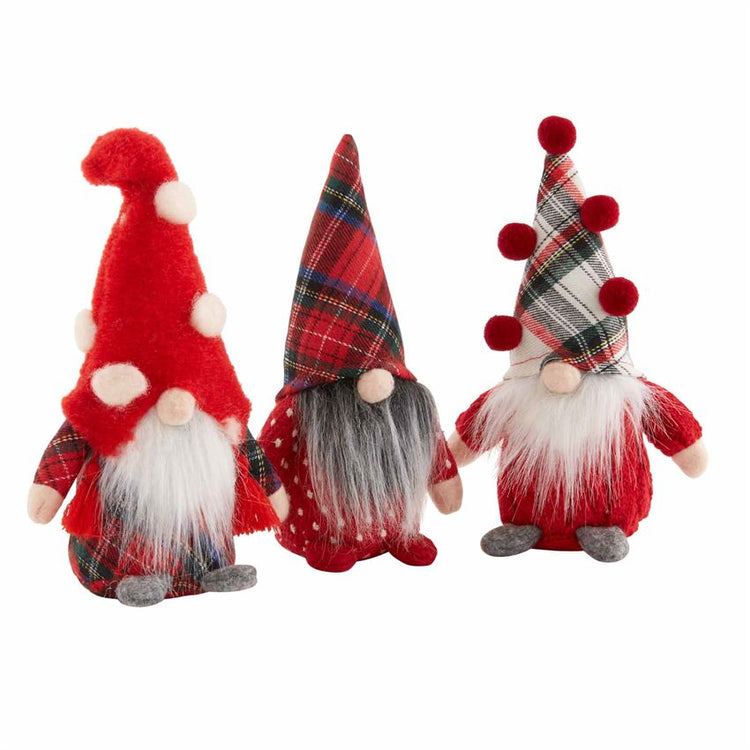 S/3 Small Christmas Gnome Sitters