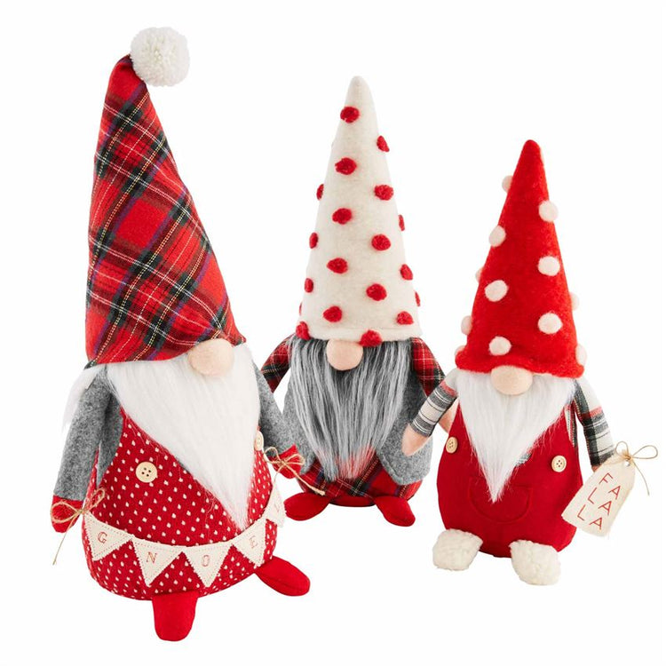 S/3 Christmas Gnome Sitters