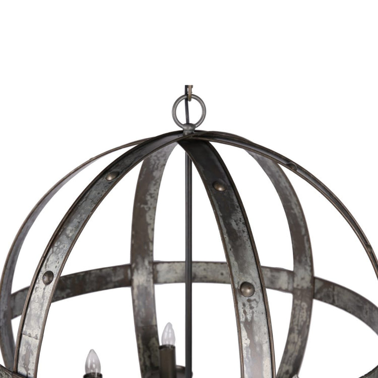 Ordway Metal Iron Orb Chandelier