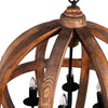 "Wood Orb Chandelier 22x29"" 4-Light Chandelier"
