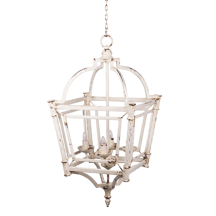 Classic Antique White Metal Chandelier