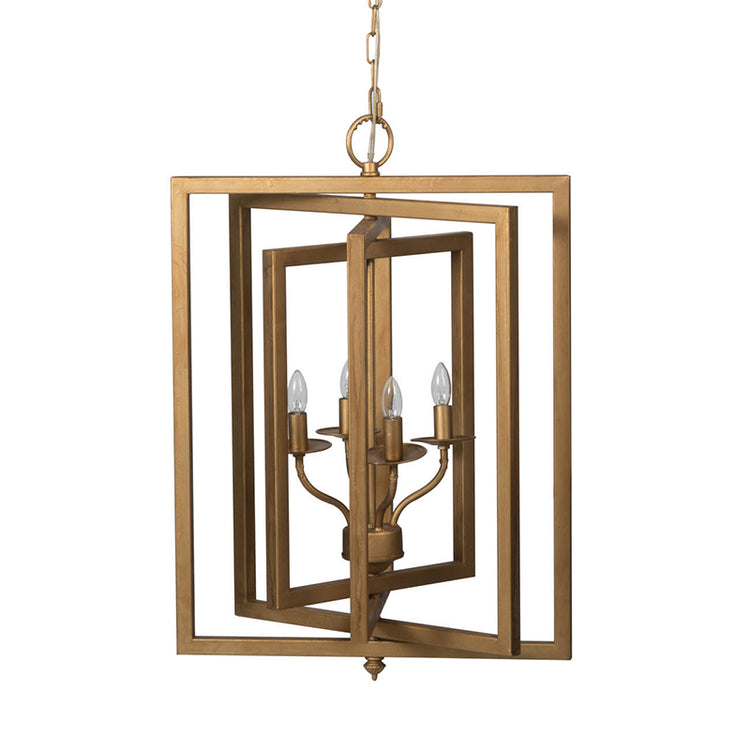 Gold Concentric Frames Chandelier