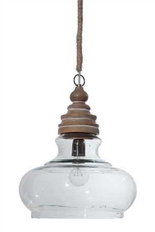 "14x16"" Glass Mango Pendant Light"