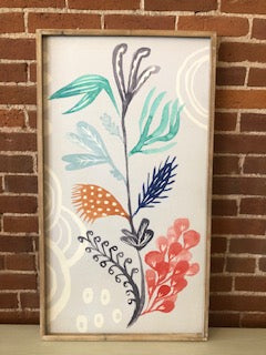 "20x36"" Wood Framed Flower Canvas"