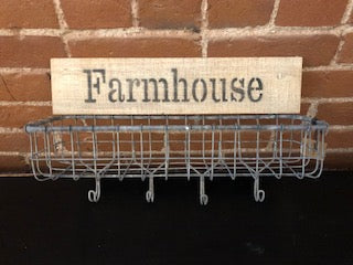 Farmhouse Wall Basket
