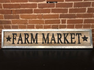 Farmer's Market Framed Sign