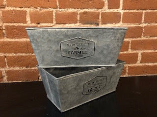 Farm Tin Windowbox Planter