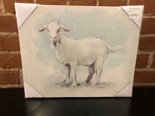 "10x12"" Canvas Wall Goat Decor"