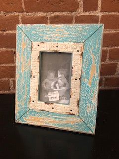 "4x6"" Blue Distressed Frame"