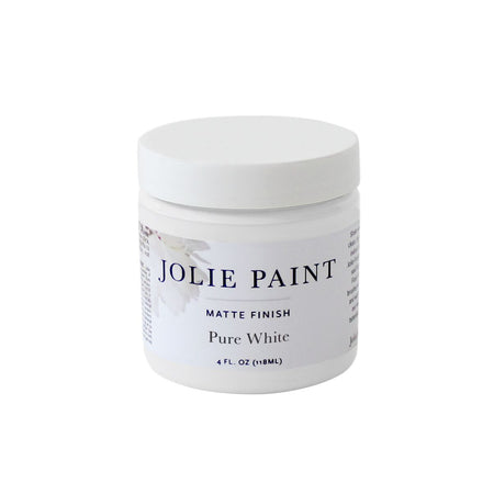 Pure White  4 oz. Sample Pot Jolie Paint