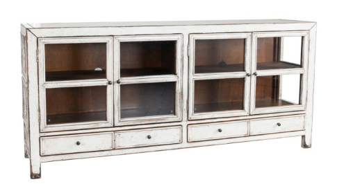 Antique White 4-Door 4-Drawer Sideboard