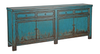 Antique Blue 4-Door Sideboard