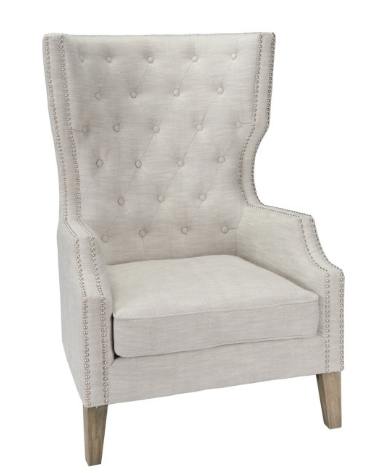 Aly Club Chair Gray