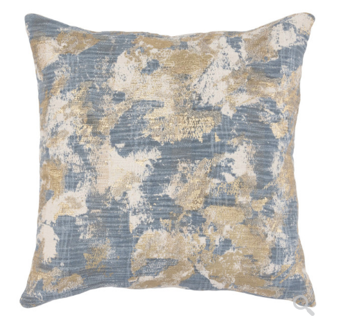 22x22 Rain Blue Pillow