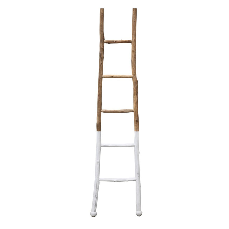 "72.5"" White Wood Dipped Ladder"