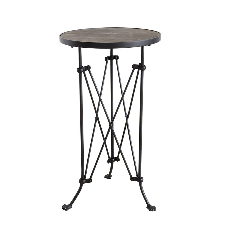 Metal Side Table w/ Wood Top