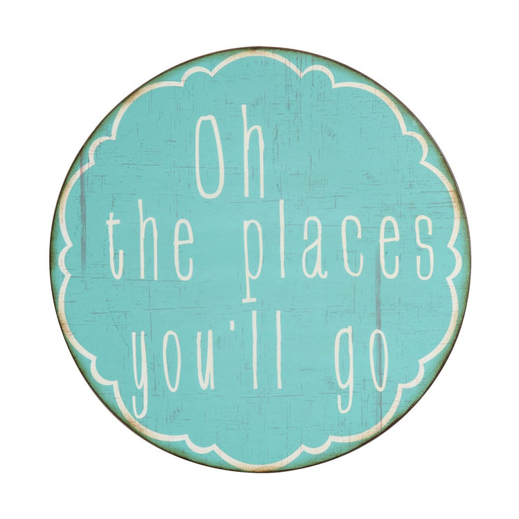 "Metal Wall Decor ""Oh The Places You'll Go"""