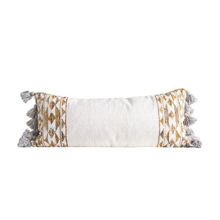 Wool Kilim Pillow w/ Tassels