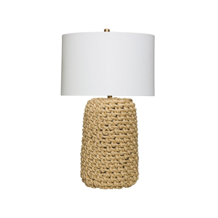 Jute Rope Table Lamp w/ Linen Shade
