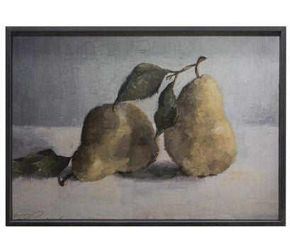 Metal Framed Wall Decor w/ Pear