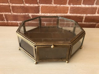 Gold Glass Keepsake Box