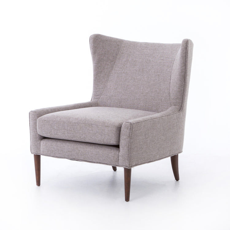 Chess Pewter Wing Chair