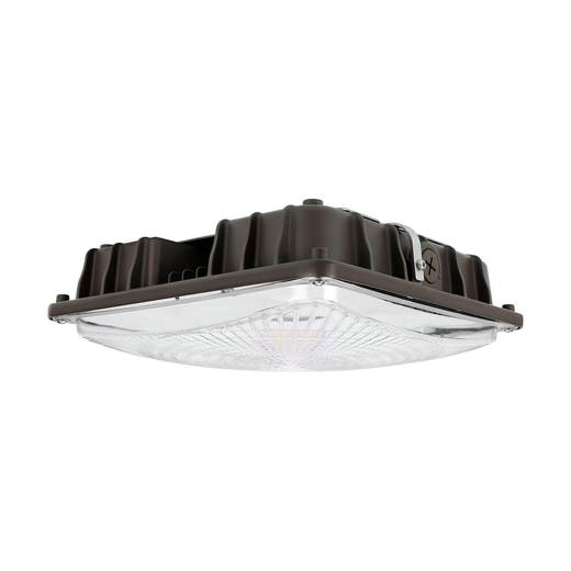 LED canopy light with emergency battery backup kit installed 250w metal halide replacement
